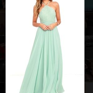 Lulu's Sage green floor length dress